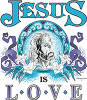 Jesus is Love. Christian shirt