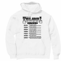 Kill Grill Menu pullover hoodie hooded sweatshirt