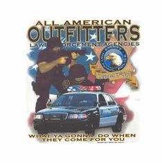 Law enforcement agencies Police officer Sheriff Highway Hwy Patrol To Serve and Protect All American Outfitters shirt