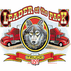 Leader of the Pack t-shirt shirt semi driver trucker driving