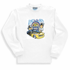 Lost in the 50's antique car long sleeve t-shirt sweatshirt
