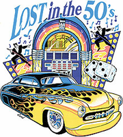 Lost in the 50's antique car shirt