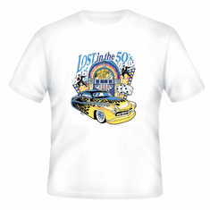 Lost in the 50's antique car t-shirt shirt