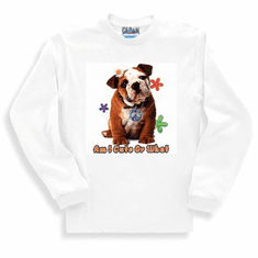 Nature Animal Dog doggy puppy Am I cute or what pit bull sweatshirt long sleeve t-shirt