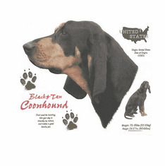 Nature Animal Dog doggy puppy black tan coonhound shirt t-shirt