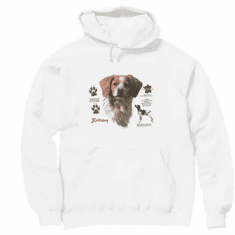 Nature Animal Dog doggy puppy Brittany pullover hoodie hooded sweatshirt
