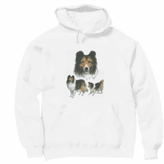 Nature Animal Dog doggy puppy collie pullover hoodie hooded sweatshirt