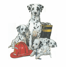 Nature Animal Dog doggy puppy dalmatian firefighter shirt  t-shirt