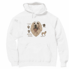 Nature Animal Dog doggy puppy great pyrenees pullover hoodie hooded sweatshirt