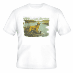 Nature Animal Dog doggy puppy hunting dog duck shirt t-shirt