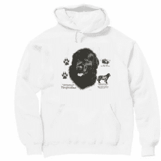 Nature Animal Dog doggy puppy Newfoundland pullover hoodie hooded sweattshirt