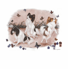 Nature Animal Dog doggy puppy puppies three 3 butterflies shirt t-shirt