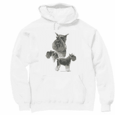 Nature Animal Dog doggy puppy schnauzer pullover hoodie hooded sweatshirt