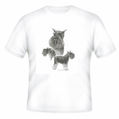 Nature Animal Dog doggy puppy schnauzer shirt t-shirt