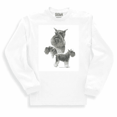 Nature Animal Dog doggy puppy schnauzer sweatshirt long sleeve t-shirt