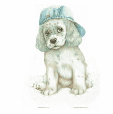 Nature Animal Dog doggy puppy with hat shirt t-shirt