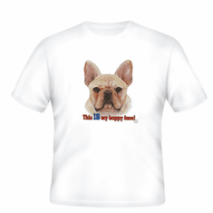 Nature Animal Dog puppy doggie This is my happy face shirt t-shirt
