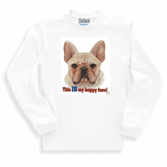 Nature Animal Dog puppy doggie This is my happy face sweatshirt long sleeve t-shirt