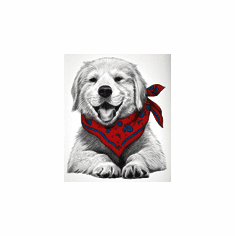 Nature Animal Dog puppy doggy with bandana shirt t-shirt