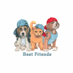 Nature Animal kitten kitty cat puppy dog doggy Best Friends shirt t-shirt