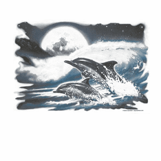 Nature Animal wild Dolphins ocean sea shirt t-shirt