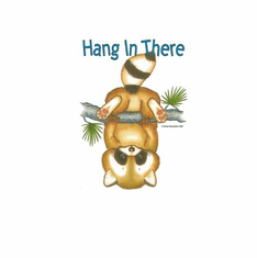 Nature Animal wild hang in there raccoon shirt t-shirt