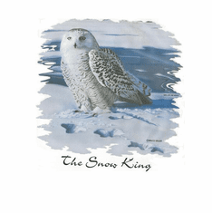 Nature Animal Wild snow king owl shirt t-shirt