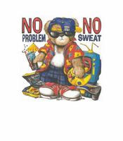 novelty attitude shirt no problem no sweat teddy bear