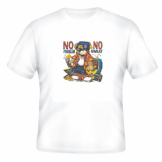 novelty attitude t-shirt no problem no sweat teddy bear