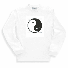 Novelty chinese symbol long sleeve t-shirt or sweatshirt YIN YANG