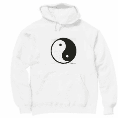 Novelty chinese symbol pullover hooded hoodie sweatshirt YIN YANG