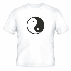 Novelty chinese symbol t-shirt YIN YANG