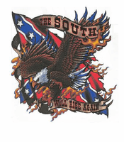 novelty DIXIE shirt The south will rise again confederate flag southern