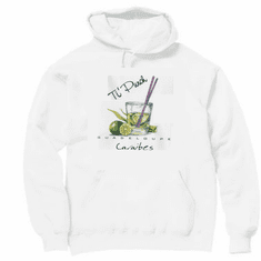 novelty drinking pullover hooded hoodie sweatshirt Ti Punch Gaudeloupe caraibes