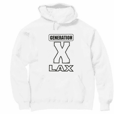 novelty funny old age pullover hooded hoodie sweatshirt GENERATION X LAX  x-lax