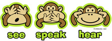 Novelty funny shirt monkey see speak hear no evil
