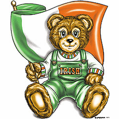 novelty Ireland patriotic shirt IRISH flag teddy bear
