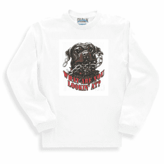novelty long sleeve T-shirt or sweatshirt attitude What are you looking at dog