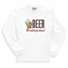 novelty long sleeve T-shirt or sweatshirt BEER it's what's for dinner