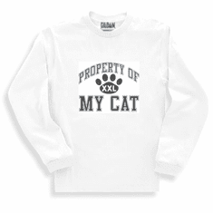 novelty long sleeve t-shirt or sweatshirt Property of My cat kitten pet