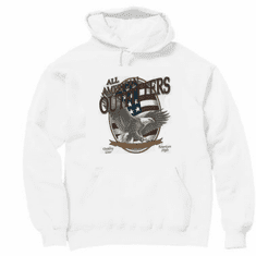 Novelty pullover hooded hoodie sweatshirt all american outfitters eagle american flag sportsman