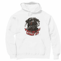 novelty pullover hooded hoodie sweatshirt attitude What are you looking at dog