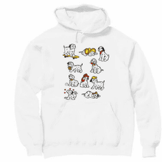 novelty pullover hooded hoodie sweatshirt DALMATION dog dogs puppy puppies Dalmations