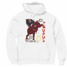 novelty pullover hooded hoodie sweatshirt horoscope new age Taurus bull