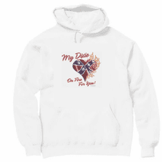 novelty pullover hooded hoodie sweatshirt my dixie heart on fire southern confederate flag
