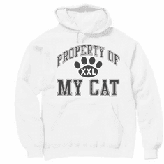 novelty pullover hooded hoodie sweatshirt Property of My cat kitten pet