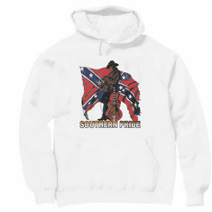 novelty pullover hooded hoodie sweatshirt SOUTHERN PRIDE dixie confederate flag south country and western music