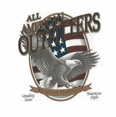 Novelty shirt all american outfitters eagle american flag sportsman