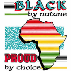 novelty shirt Black by nature proud by choice african american