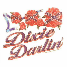 novelty shirt DIXIE DARLIN' darling southern girl confederate flag rose